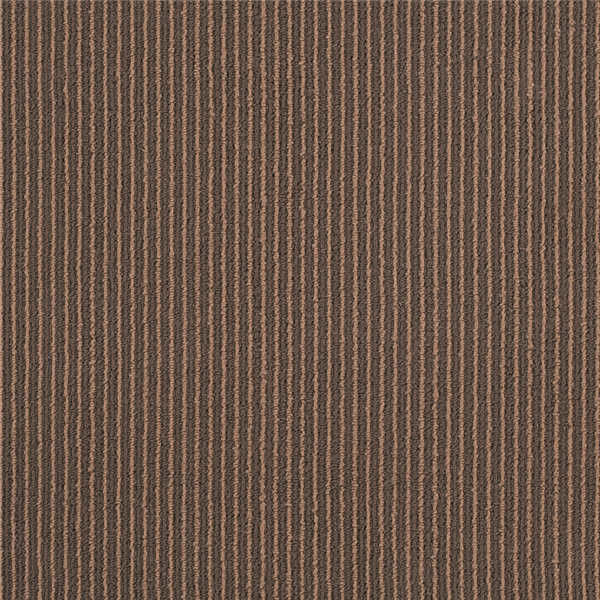 Meeting Room Striped Carpet Tiles 3 Mm - 4 Mm Pile Height 600 G / M2 Pile Weight
